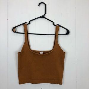 3/$20 Garage Ribbed Knit Cropped Tank Sz L
